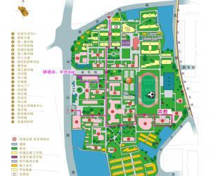 高校导航:东华大学校园平面图