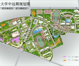 高校导航:上海财经大学校园平面图