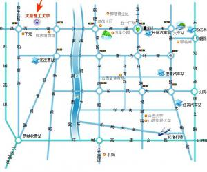 高校导航:太原理工大学校园平面图
