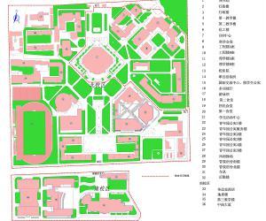高校导航:中国石油大学(北京)北京校园平面图